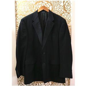 Burberry Black Wool Vintage Suit Jacket Blazer